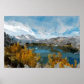 Lac june en sierra chaîne de Nevada de la Poster
