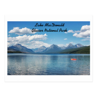 Lac Macdonald, parc national de glacier Carte Postale