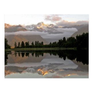 Lac Matheson Nouvelle Zélande reflection de miroir Cartes Postales