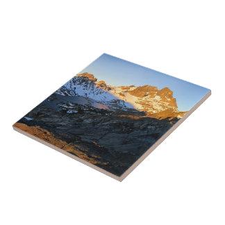 Lac maximal garnet de lever de soleil de bannière petit carreau carré