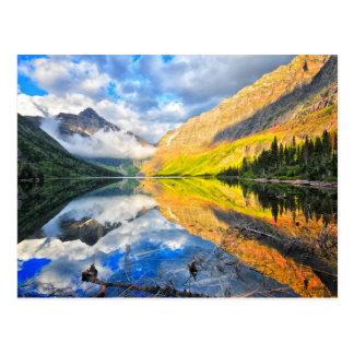 Lac medicine du stimulant deux au lever de soleil carte postale
