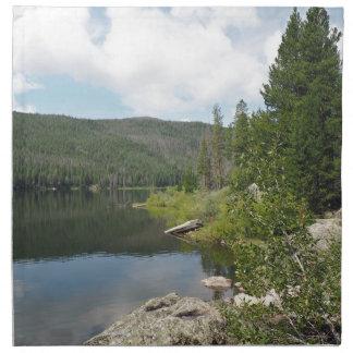 Lac monarch dans le Colorado Serviettes En Tissus