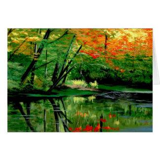 Lac paisible fall carte de vœux