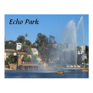 Lac park d'écho carte postale