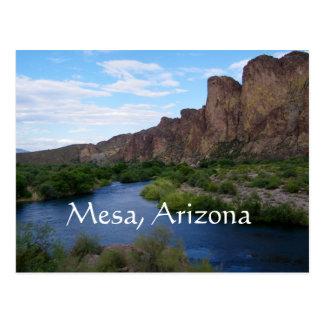 Lac pittoresque de saguaro, MESA, Arizona Carte Postale