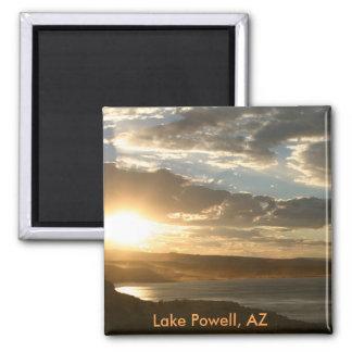 Lac Powell AZ au coucher du soleil Magnet Carré
