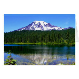 Lac reflection, le mont Rainier, WA, Etats-Unis Carte De Vœux