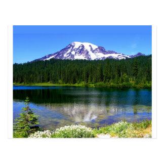 Lac reflection, le mont Rainier, WA, Etats-Unis Carte Postale