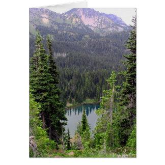 Lac sunrise, le mont Rainier Cartes De Vœux
