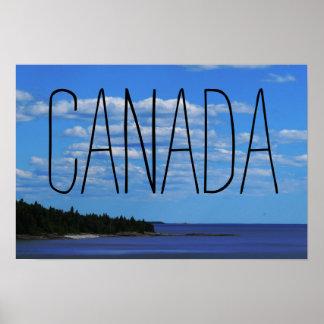 Lac supérieur canadien side | poster