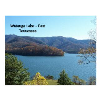 Lac Watauga en carte postale est du Tennessee