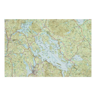 Lac Winnipesaukee Map (1986) Poster