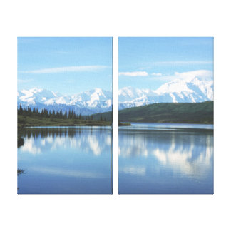 Lac wonder - parc national de Denali Toile