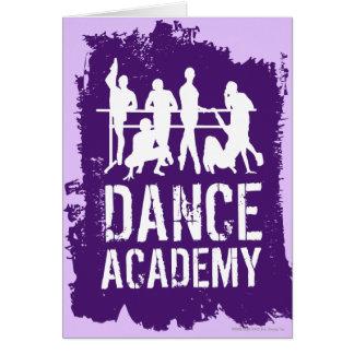 L'académie de danse silhouette le logo carte de vœux