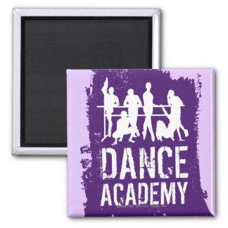 L'académie de danse silhouette le logo magnet carré