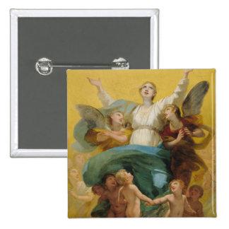L'acceptation de la Vierge Badge Carré 5 Cm