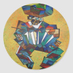 L'accordéoniste Adhésifs Ronds