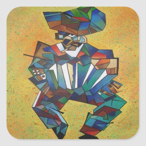 L'accordéoniste Sticker Carré