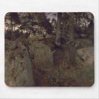 L'accouplement des coqs de bruyière, 1888 tapis de souris
