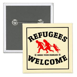 L'accueil de réfugiés amènent vos familles pin's
