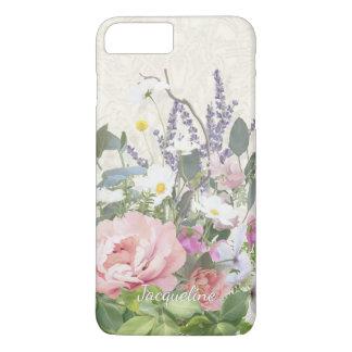 Lacez les fleurs sauvages florales de la pivoine coque iPhone 7 plus