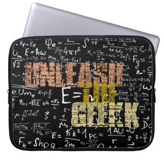 Lâchez la caisse d'ordinateur portable de geek trousse pour ordinateur portable