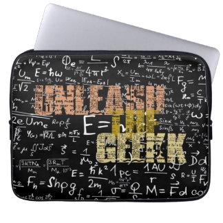 Lâchez la caisse d'ordinateur portable de geek trousses pour ordinateur portable