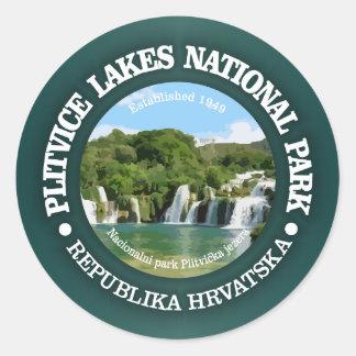 Lacs NP Plitvice Sticker Rond