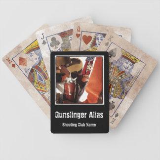 L'action personnalisée de cowboy dessinent jeu de cartes