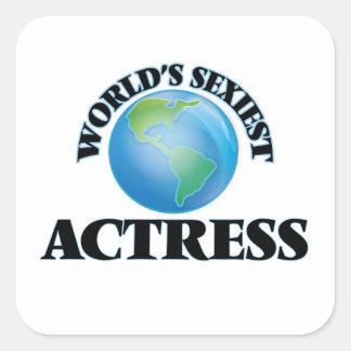 L'actrice la plus sexy du monde sticker carré