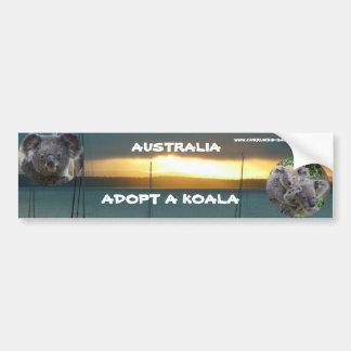 L'adhésif pour pare-chocs ADOPTENT un KOALA Autocollant De Voiture