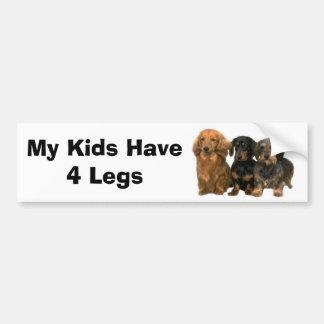L'adhésif pour pare-chocs de teckel mes enfants on autocollant de voiture
