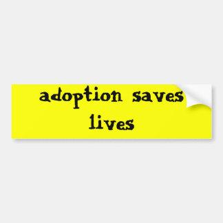 l'adoption sauve les vies autocollant de voiture