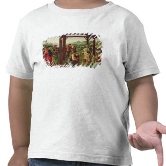 L'adoration des Magi (huile sur le panneau) (voyez T-shirt