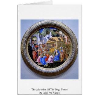 L'adoration des Magi TondoBy Lippi ATF Filipo Carte De Vœux