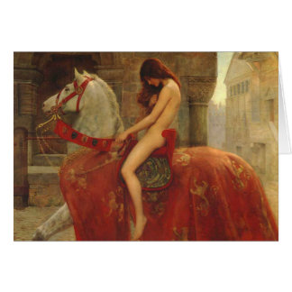 Lady Godiva, John Collier, 1898 Carte De Vœux