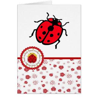 Ladybird - anniversaire carte de vœux