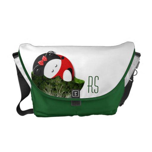 Ladybugette décoré d'un monogramme sacoche