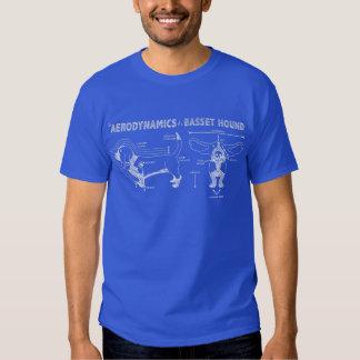 L'aérodynamique de Basset Hound T-shirts