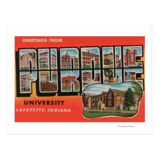 Lafayette, Indiana - université de Purdue Carte Postale