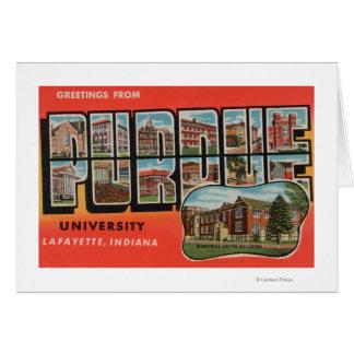 Lafayette, Indiana - université de Purdue Cartes