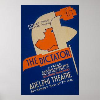 L'affiche 1940 de dictateur Farce WPA Posters