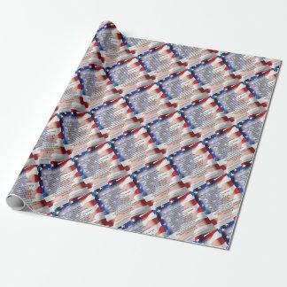 L'affiche d'art de poésie de drapeau des papier cadeau noël