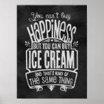 L'affiche de l'amant de crème glacée