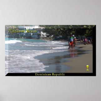 L'affiche de plage de Cabarete de la République Poster