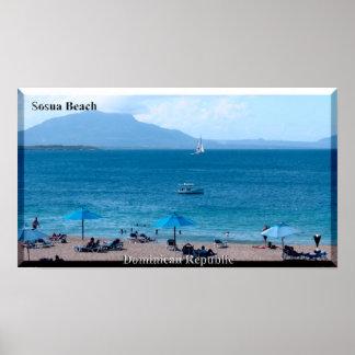 L'affiche de plage de Sosua de la République Poster