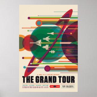L'affiche de voyage dans l'espace de visite grande posters