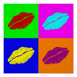 l'affiche des lèvres poster