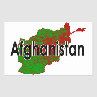 L'Afghanistan Sticker Rectangulaire