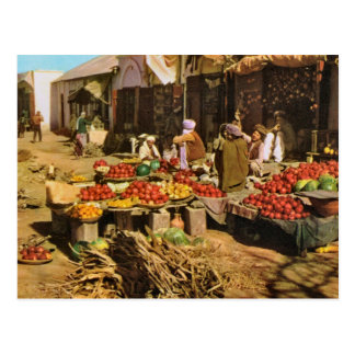 L'Afghanistan vintage, marché en plein air dans Ka Cartes Postales